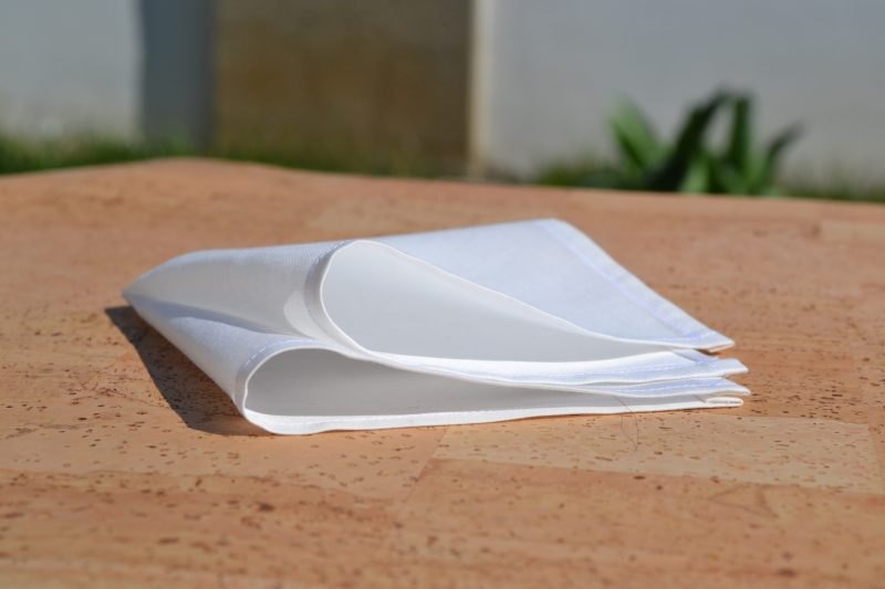Stofftaschentuch für Hochzeit – Cotto Satin