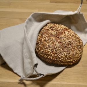 Hochwertiger Brotbeutel aus Hanf