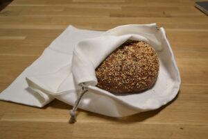 Hochwertiger Brotbeutel aus Leinen