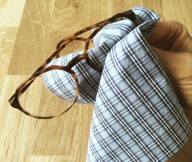 Brillenreinigungstücher aus Bio Baumwolle und Leinen